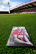 Front cover of the match day programme featuring Adam Smith (15) of AFC Bournemouth on the grass on the pitch at Vitality Stadium before the Premier League match between Bournemouth and Tottenham Hotspur at the Vitality Stadium, Bournemouth, England on 4 May 2019.