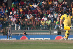 ©London News Pictures. 19/03/2011.Australian Steven Smith safely makes it home after a direct hit run out chance at R.Premadasa Stadium Colombo Sri Lanka