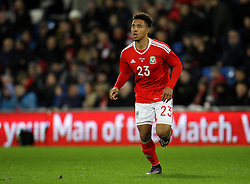 Adam Henley of Wales on his international debut - Mandatory byline: Robbie Stephenson/JMP - 07966 386802 - 13/11/2015 - FOOTBALL - Cardiff City Stadium - Cardiff, Wales - Wales v Netherlands - International Friendly