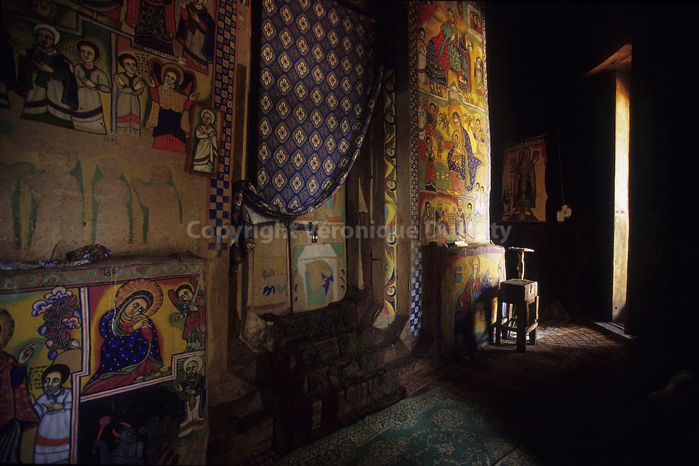 situated on the Zege peninsula, Beta Maryam monastery has beautiful 19th century paintings