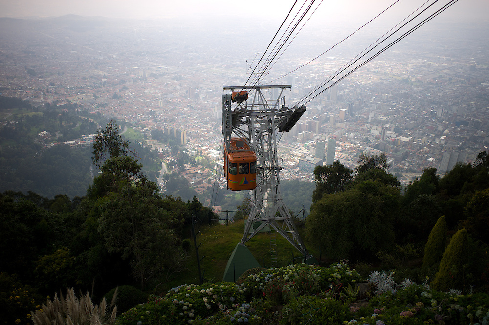Cable car serving Monserrate near Bogotá, Colombia.