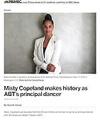Dancer Misty Copeland, MSNBC.com, 2015