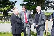 Teagasc Director General Prof Gerry Boyle   with IFA President  Joe Healy and Aidan Crean McDonald's ire at the Newford Herd Open Day at Teagasc Athenry, Mellows Campus.  Photo:Andrew Downes, xposure.