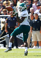 WEST LAFAYETTE, IN - SEPTEMBER 15:  Running back Dominique Sherrer #25 of the Eastern Michigan Eagles catches the pass against the Purdue Boilermakers at Ross-Ade Stadium on September 15, 2012 in West Lafayette, Indiana. (Photo by Michael Hickey/Getty Images)***Local Caption***Dominique Sherrer