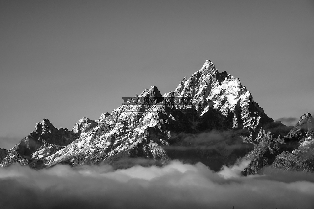 The Grand Teton in Grand Teton National Park.  Limited Edition - 75