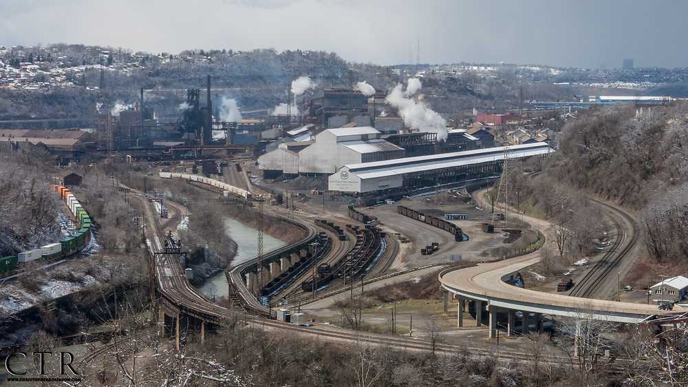 The United States Steel Corporation's Edgar J. Thompson Works, located ten miles south of the City of Pittsburgh in Braddock, Pa. has been in operation since 1875, The steel works produce about 28% of U.S. Steel's Domestic Production and was one of Andrew Carnegie's first Bessemer process factories. (Photo by Christopher Rolinson)