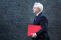© Licensed to London News Pictures. 16/01/2018. London, UK. Secretary of State for Exiting the European Union David Davis arrives on Downing Street for the weekly Cabinet meeting. Photo credit: Rob Pinney/LNP