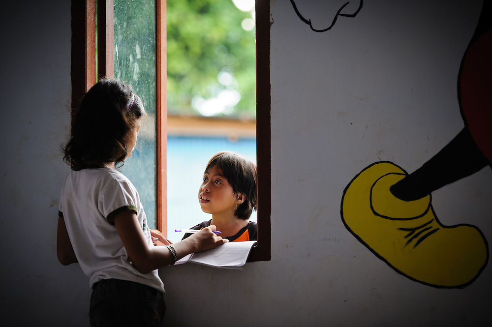 Children in a class at the school supported by the Sacred Childhoods Foundation, Makassar, Sulawesi, Indonesia.