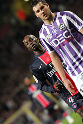 Claude Makelele and Andre-Pierre Gignac. Toulouse v Paris St Germain,French Ligue 1, Stade Municipal, Toulouse, France, 22nd March 2009.