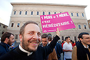 Demo against gay marriages law in France
