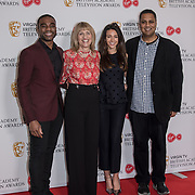 Ore Oduba, Jane Lush, Michelle Keegan and Krishnendu Majumdar attend the Virgin TV BAFTA TV Nominations Press Conference, London, UK - 04 April 2018 at BAFTA, Piccadilly, London, UK.