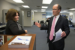 U.S. Department of Labor secretary Thomas Perez made a visit to Louisville, Wednesday, Nov. 20, 2013. <br /> While in Louisville he visited the Ford Motor Company Louisville Assembly Plant, Kentucky Manufacturing Career Center and Office Environment Company for tours and round table discussions. <br /> The secretary visited with elected officials, company officials, community business leaders, students, and employees. Secretary of Labor Thomas Perez participates in a roundtable discussion with faculty, students &amp; employers at the Kentucky Manufacturing Career Center.