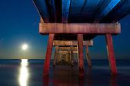 The Jacksonville Beach Pier at Night.