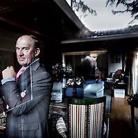 Nederland, Bosch en Duin , 28 februari 2013.<br /> Pieter Korteweg, voormalig thesauriër-generaal van Financiën en oud- topman van Robeco<br /> Foto:Jean-Pierre Jans