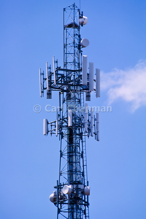 GSM and CDMA cellsite antenna array for the cellular telephone system on a tower - Brisbane, Australia