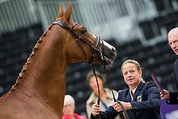 Werth Isabell, GER, Bella Rose<br /> Rotterdam - Europameisterschaft Dressur, Springen und Para-Dressur 2019<br /> Horse Inspection for Dressage horses<br /> Vet-Check für Dressurpferde<br /> 18. August 2019<br /> © www.sportfotos-lafrentz.de/Sharon Vandeput