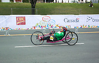 8 August 2015: TO2015 Panam Games, Cycle road race, Luisa Morales(MEX) competes in the H1-5 cycle road race, Ontario Place West,
