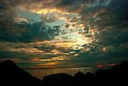 Lake Erie Sunrise Over the Rocks