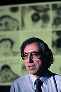 Dr. Robert Gallo at his lab section at the National Institute of Health in April 1984.  The photograph was made for a TIME cover story on his discovery of the AIDS Virus.TIME had the exclusive on the story, but the TIME legal department didn't like it and the cover story never ran.<br /> <br /> Photo by Dennis Brack