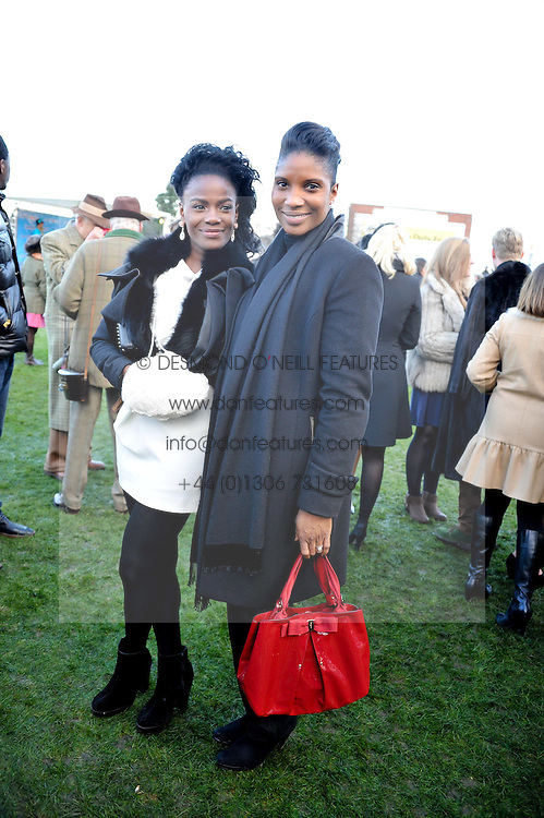 Left to right, SHINGAI SONIWA and DENISE LEWIS at the 2012 Hennessy Gold Cup at Newbury Racecourse, Berkshire on 1st December 2012