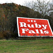 Ruby Falls advertisement, Tennessee