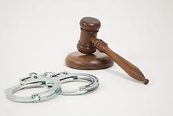 Jul. 26, 2012 - A gavel and handcuffs (Credit Image: © Image Source/ZUMAPRESS.com)