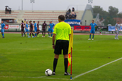 Line umpire during football match between NK Triglav Kranj and ND Gorica, 7th Round of Prva Liga, on 26 August, 2012, in Sportni center, Kranj, Slovenia. (Photo by Grega Valancic / Sportida)