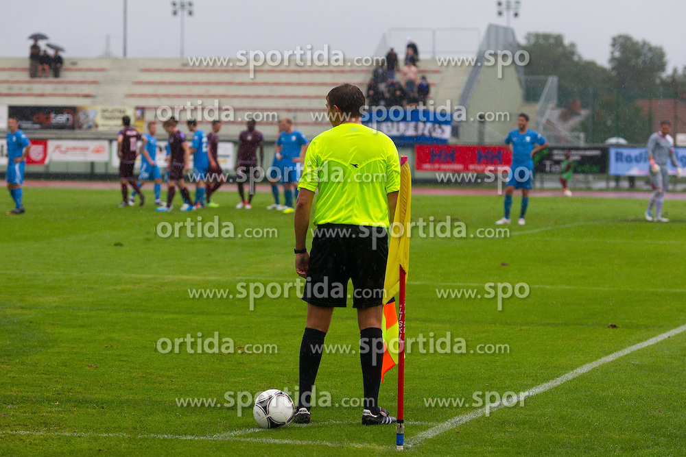Line umpire during football match between NK Triglav Kranj and ND Gorica, 7th Round of Prva Liga, on 26 August, 2012, in Sportni center, Kranj, Slovenia. (Photo by Grega Valancic / Sportida)