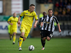NOTTINGHAM, ENGLAND - Saturday, October 6, 2012: Tranmere Rovers' Jake Cassidy in action against Notts County during the Football League One match at Meadow Lane. (Pic by David Rawcliffe/Propaganda)