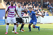 Goalscorer Lyle Taylor of AFC Wimbledon during the Sky Bet League 2 match between AFC Wimbledon and Barnet at the Cherry Red Records Stadium, Kingston, England on 3 October 2015. Photo by Stuart Butcher.