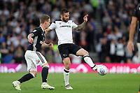 DERBY, ENGLAND - MAY 11: - DCFC vs Fulham. Bradley Johnson, plays the ball forward