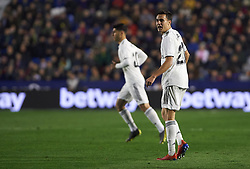 February 24, 2019 - Valencia, Valencia, Spain - Sergio Reguilon of Real Madrid during the La Liga match between Levante and Real Madrid at Estadio Ciutat de Valencia on February 24, 2019 in Valencia, Spain. (Credit Image: © Maria Jose Segovia/NurPhoto via ZUMA Press)