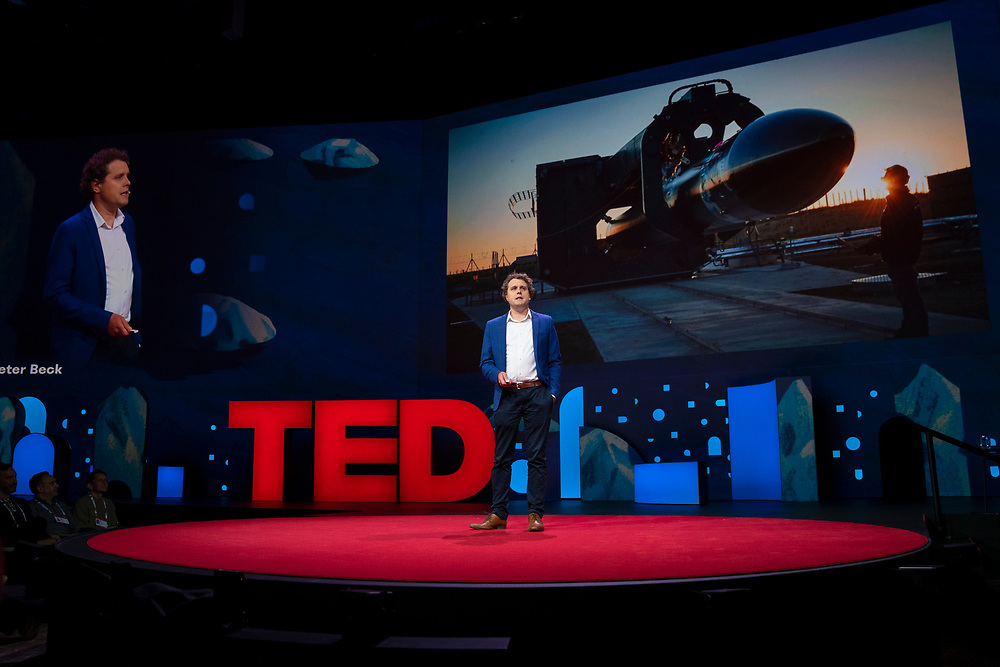 Peter Beck speaks at TED2019: Bigger Than Us. April 15 - 19, 2019, Vancouver, BC, Canada. Photo: Bret Hartman / TED