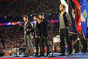 Members of the band Honor Society sing the National Anthem at the American Football Conference AFC All-Stars game against the National Football Conference NFC All-Stars during the 2010 NFL Pro Bowl, January 31, 2010 in Miami, Florida.  The AFC won the game 41-34. ©Paul Anthony Spinelli