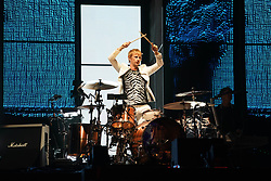 Dominic Howard of Muse performing in the final headline slot on the Main Stage at the 2017 Reading Festival. Photo date: Sunday, August 27, 2017. Photo credit should read: Richard Gray/EMPICS Entertainment