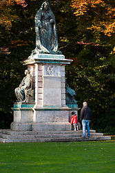 """""""Visiting The Queen"""" Statue dedicated to the memory of Queen Victoria in Endcliffe Park Sheffield<br /> 21 October 2012<br /> Image © Paul David Drabble"""