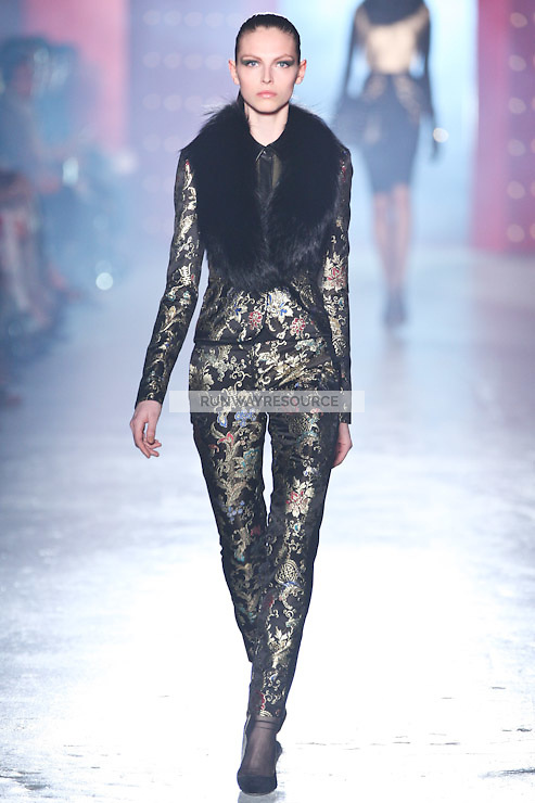Karlina Caune walks down runway for F2012 Jason Wu's collection in Mercedes Benz fashion week in New York on Feb 10, 2012 NYC