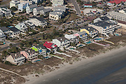 Aerial view of waterfront homes on Isle of Palms, South Carolina.