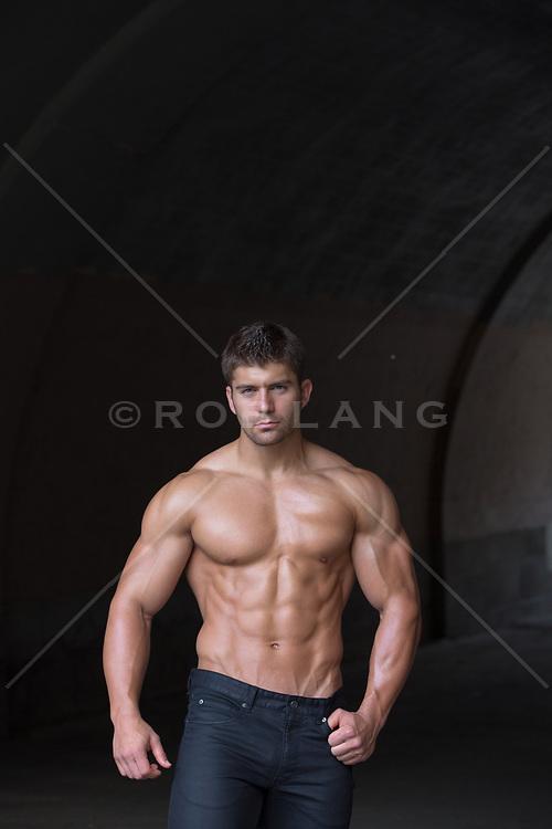 hot shirtless muscular man