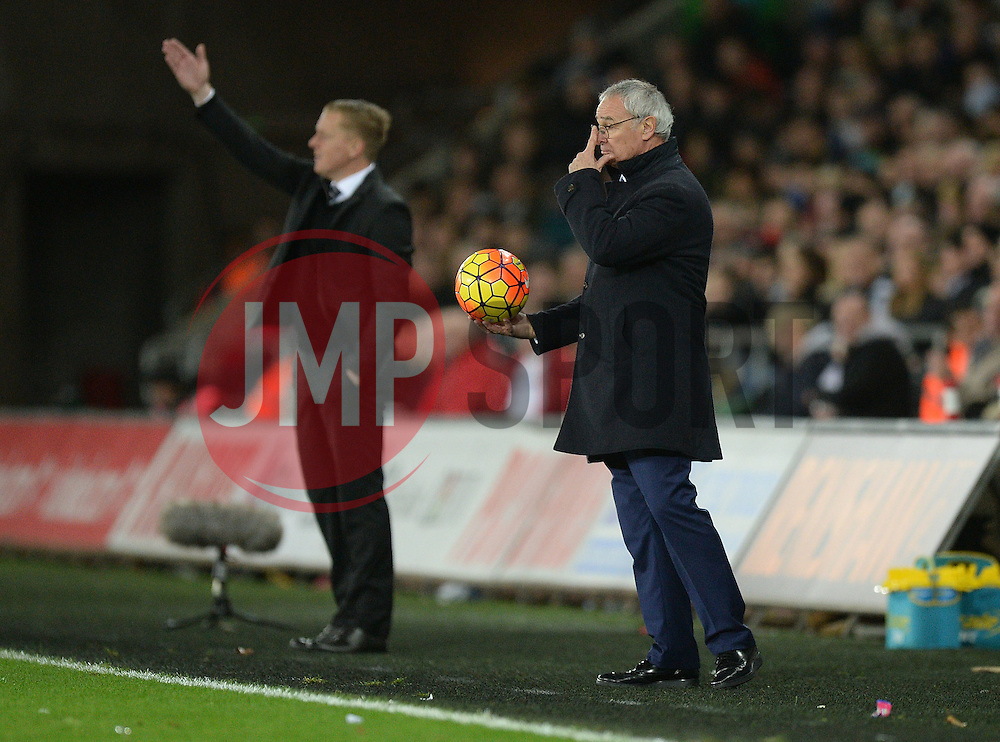 Leicester City Manager Claudio Ranieri - Mandatory byline: Alex James/JMP - 05/12/2015 - Football - Liberty Stadium - Swansea, Wales - Swansea City v Leicester City - Barclays Premier League