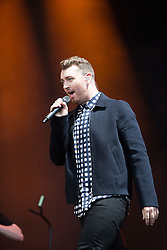 Sam Smith plays the main stage. Friday, 10th July 2015, First day at T in the Park 2015, at its new home at Strathallan Castle.