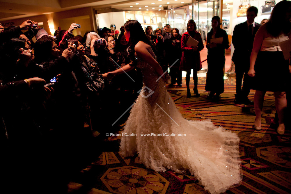 Angel Locsin (Philippines) greets fan upon arriving at the 37th International Emmy Awards Gala in New York on Monday, November 23, 2009.  ***EXCLUSIVE***