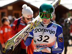 20.03.2014, Planica, Ratece, SLO, FIS Weltcup Ski Sprung, Planica, Qualifikation, im Bild Denis Kornilov // Denis Kornilov during the qualifikation of the mens individual large Hill of the FIS Ski jumping Worldcup Cup finals at Planica in Ratece, Slovenia on 2014/03/20. EXPA Pictures © 2014, PhotoCredit: EXPA/ Newspix/ Irek Dorozanski<br /> <br /> *****ATTENTION - for AUT, SLO, CRO, SRB, BIH, MAZ, TUR, SUI, SWE only*****