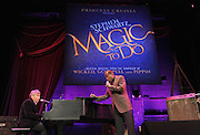 "Oscar-winning Broadway composer Stephen Schwartz, left, performs ""Magic to Do"" with entertainer Ben Vereen during an event announcing Schwartz's partnership with Princess Cruises, Thursday, March 12, 2015, at Millennium Broadway's Hudson Theatre in New York. (Photo by Diane Bondareff/Invision for Princess Cruises/AP Images)"