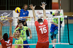 Ziga Steern of Slovenia during volleyball match between national teams of Slovenia and Turkey of 2018 CEV volleyball Godlen European League, on May 27, 2018 in Sports hall Tabor, Maribor, Slovenia. Photo by Urban Urbanc / Sportida