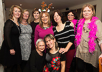 07/12/2014   <br /> at The Pier Head, Kinvara for Oiche Nollaig na mban (night out for the chicks!) started out as a fun Christmas night for the ladies. Organised by Mary Moloney, Ruth sexton, Valerie Forkan, Sarah Linnane &amp; Jackie Veale, the women quickly decided to make it a fundraiser. Being a women's night the obvious charity of choice was breast cancer awareness, the NBCRI was the chosen beneficiary.  120 participated in the chain link, all sporting a variety of pink bras! Some Christmas carols at the village tree while hanging the bras on the tree was another highlight! PHOTO:Andrew Downes