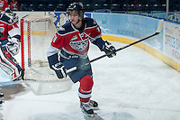 KELOWNA, CANADA -FEBRUARY 19: Ty Comrie #11 of the Tri City Americans skates during warm up against the Kelowna Rockets on February 19, 2014 at Prospera Place in Kelowna, British Columbia, Canada.   (Photo by Marissa Baecker/Getty Images)  *** Local Caption *** Ty Comrie;