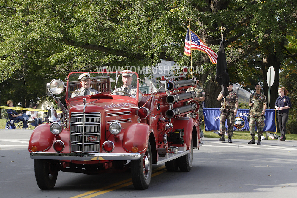 Middletown, NY - The fire parade marking the 150th anniversary of the Middletown Fire Department on Oct. 3, 2009.