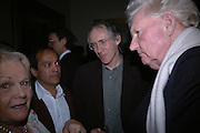 Vikram Seth, Ian McEwan and Paul Johnson.. Everyman's Centenary Party. The Fine Rooms. Royal Academy. London. 15 February 2006. dddONE TIME USE ONLY - DO NOT ARCHIVE  © Copyright Photograph by Dafydd Jones 66 Stockwell Park Rd. London SW9 0DA Tel 020 7733 0108 www.dafjones.com
