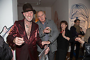 RICHARD STRANGE; VIVIANNE MAYOR; ROBBIE MOFFAT;, Closing party Mayor Gallery, Cork St. London. 17 December 2013